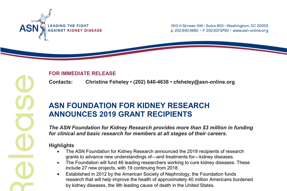ASN Foundation Announces 2019 Grant Recipients